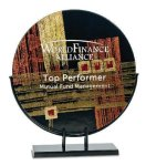Round Art Glass Award Achievement Awards