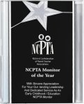 Black/Silver Star Acrylic Award Recognition Plaque Acrylic Plaques