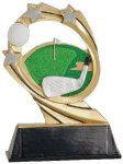 Golf Cosmic Resin Trophy Cosmic Resin Trophy Awards