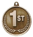 High Relief 1st Place Medal Football Trophy Awards