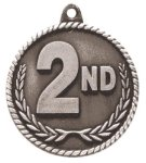 High Relief 2nd Place Medal Football Trophy Awards