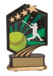 Softball Resin Trophy Graphic Star Resin Trophy Awards