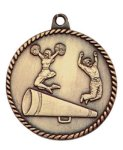 High Relief Cheerleading Medal High Relief Medallion Awards