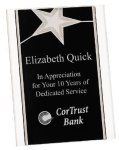 Silver Star Acrylic Stand Up Plaque Patriotic Awards