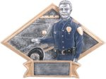 Law Enforcement Diamond Plate Resin  Police Trophy Awards