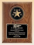 American Walnut Plaque with 5 Star Medallion Recognition Plaques