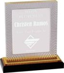 Gold Carved Rectangle Impress Acrylic Sales Awards