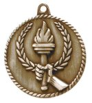 High Relief Torch Medal Scholastic Trophy Awards