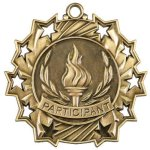 Participant Ten Star Medal Scholastic Trophy Awards