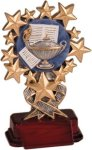Lamp of Learning - Starburst Resin Trophy Scholastic Trophy Awards