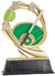 Softball Cosmic Resin Trophy Softball Trophy Awards
