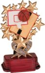 Basketball - Starburst Resin Trophy Starburst Resin Trophy Awards