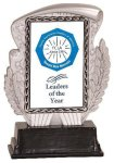 Silver & Black Rectangle Insert Resin Trophy Wreath Awards