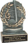 Music - Wreath Resin Trophy Wreath Resin Trophy Awards